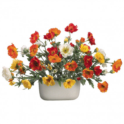 Mixed Poppy Floral Arrangement