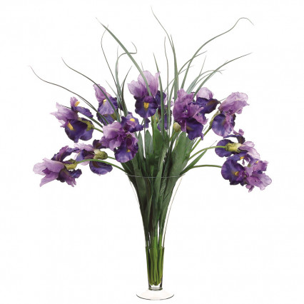 Purple Iris Floral Arrangement