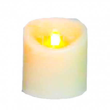 A&B Floral 3x4 Ivory LED Candle