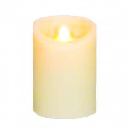 A&B Floral 3x6 Ivory LED Candle