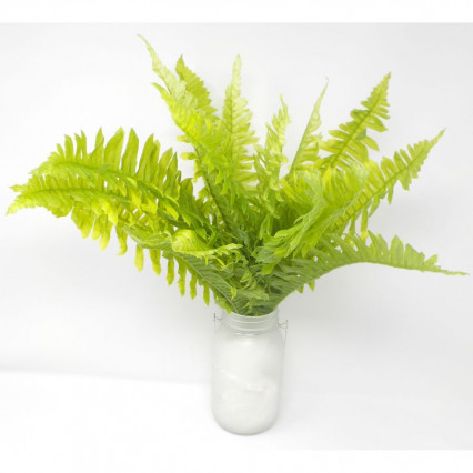 "20"" Soft Touch Boston Fern Bush-Light Green"