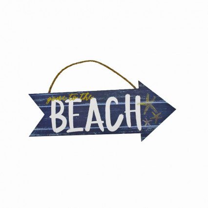 Gone to the Beach Wooden Arrow Hanging Sign