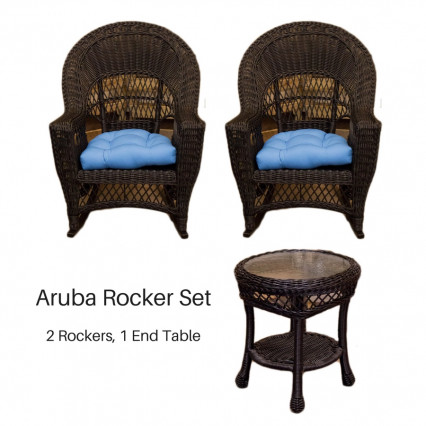 Aruba Rocker Set - Black