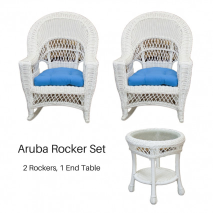 Aruba Rocker Set - White