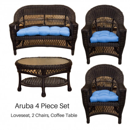 Aruba 4 Piece Set - Black