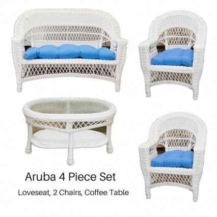 Aruba 4 Piece Set - White