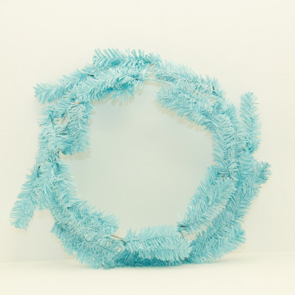 "24""  Baby Blue Pine Work Wreath"