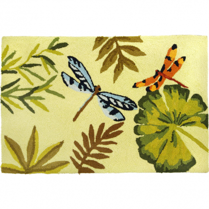 Homefires PY-JB070 Bamboo Dragonfly Rug
