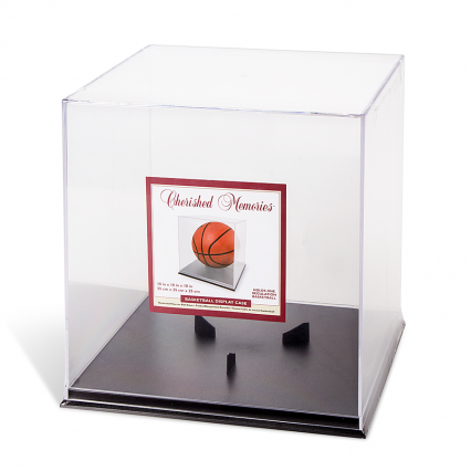 Darice 97421 Cherished Memories Basketball Display Case - Acrylic - Clear - 10 x 10 inches