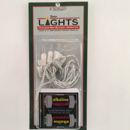 Darice 2341-99 Mini Battery Operated Clear Lights White Wire (On/Off Switch)