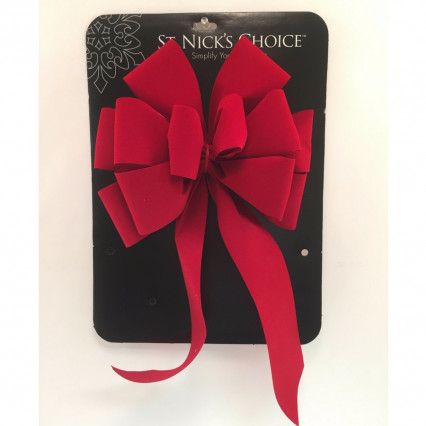 St. Nick's Choice Berry Imperial Velvet Christmas Bow