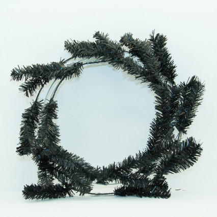 "24"" Black Pine Work Wreath"