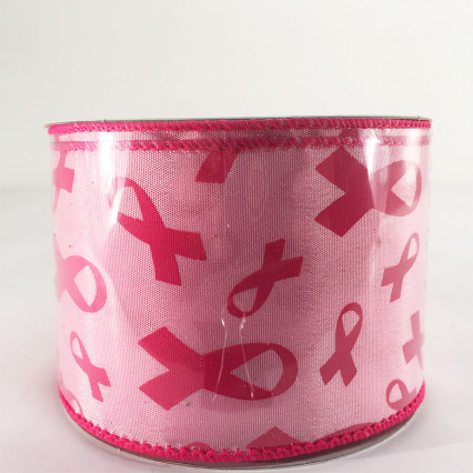 Jascotina 2.5 x 10yds Breast Cancer Awareness Ribbon