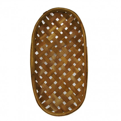 "Tobacco Basket - 18"" Brown Oval"