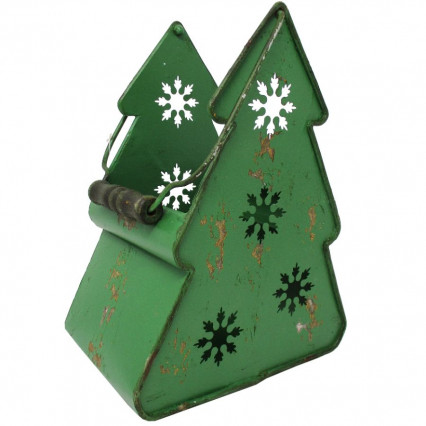 Christmas Tree Metal Lantern