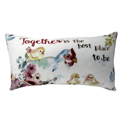 Together Rooster 2-sided Accent Pillow