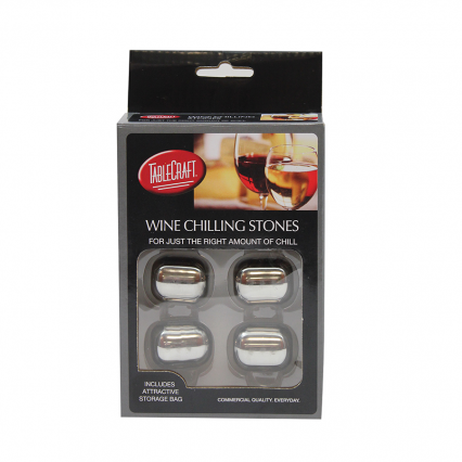 Tablecraft H2223 Stainless Steel Wine Chilling Stones