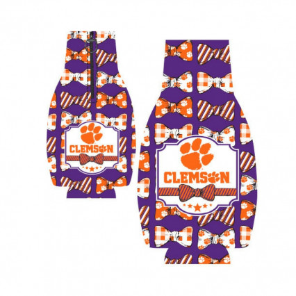 Clemson Tigers Bowtie Bottle Hugger