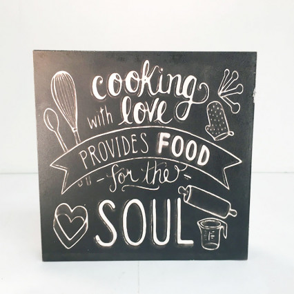 8 x 8 Cooking With Love Box Sign