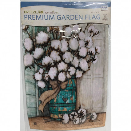 Cotton Balls Garden Flag