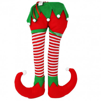 Plush Elf Legs Christmas Decor