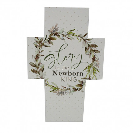 Glory to the Newborn King Wooden PGD Cross Block Sign