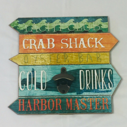 """Crab Shack"" Wall Mounted Bottle Opener"
