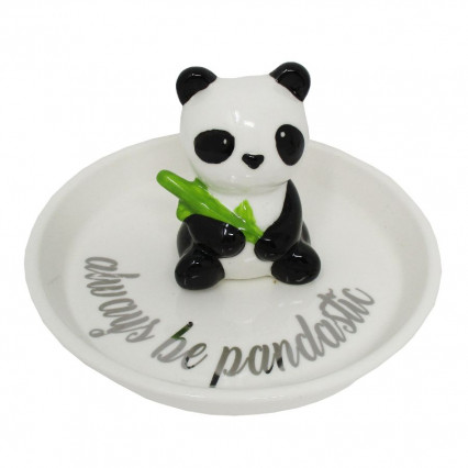 Ceramic Trinket Dish Always Be Pandastic Panda