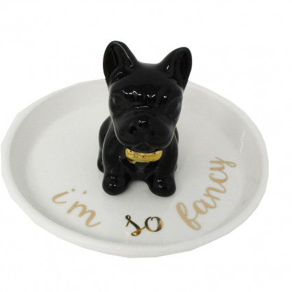 Ceramic Trinket Dish I'm So Fancy French Bulldog