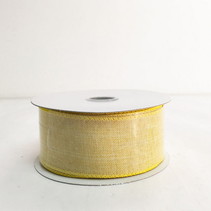 "1.5"" x 10Y Daffodil Canvas Ribbon"