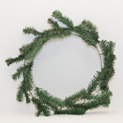 "24"" Dark Green Pine Work Wreath"