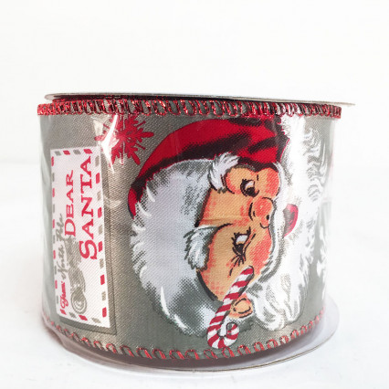 2.5 x 10 Yd Dear Santa Claus Ribbon