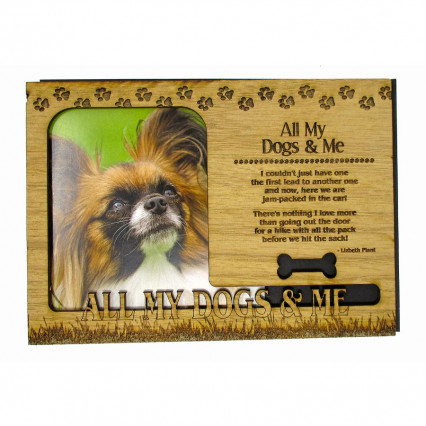 All My Dogs & Me Wooden Dog Magnetic Frame