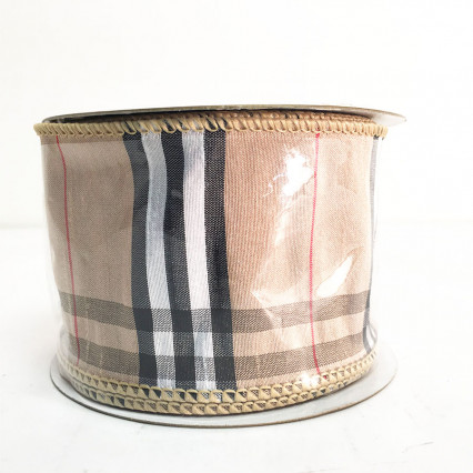 "2.5"" x 10Y Dupion Plaid Ribbon"