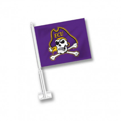 ECU Car Flag - Purple w/ Skull & Crossbones
