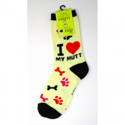Dog Lover Socks - I Love My Mutt
