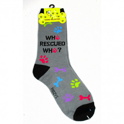 Dog Lover Socks - Who Rescued Who
