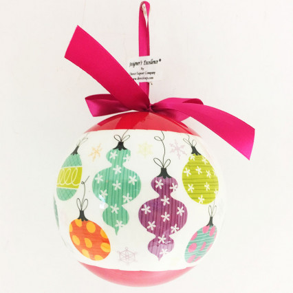"5"" Pop Finial Ball Christmas Ornament"