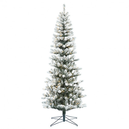 Border Concepts 6.5' Flocked Wisp Spruce Christmas Tree