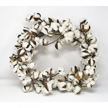 "20"" Faux Round Cotton Wreath"