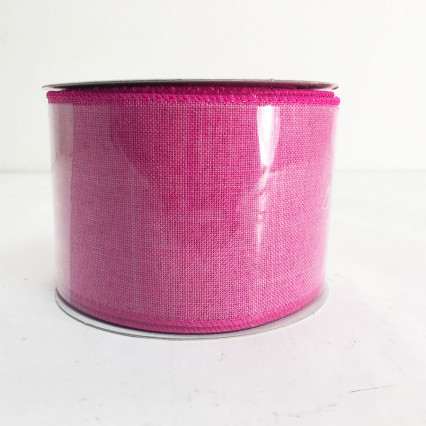 "2.5""X10Y Fuchsia Canvas Ribbon"