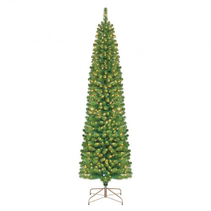 Border Concepts 4.5ft Osage Fir Christmas Tree Clear Lights