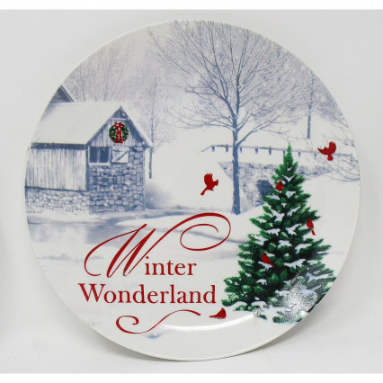 Decorative Christmas Plate Winter Wonderland