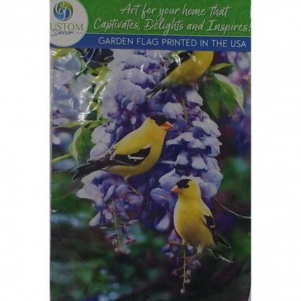 Goldfinch Wisteria Garden Flag