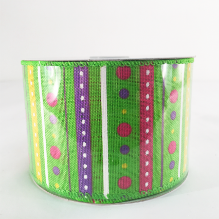 Jascotina 2.5 x 10yds Green Decorative Ribbon