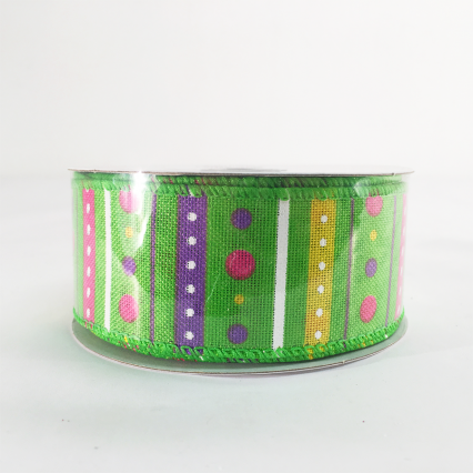 Jascotina 1.5 x 10yds Green Decorative Ribbon
