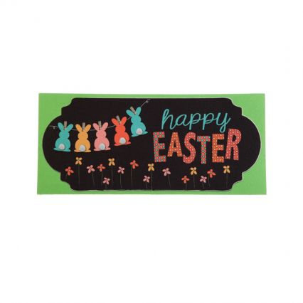 Evergreen 431337 Happy Easter Chalkboard Banner Mat Insert, 10 x 22 inches (Door Mat Frame Sold Separately)