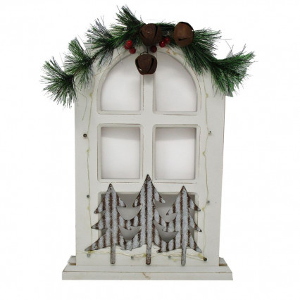 Christmas Window White Light Up Decor