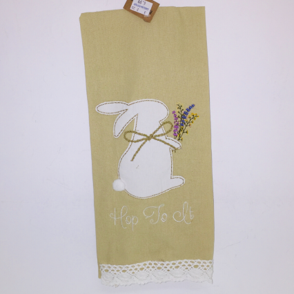 """Hop to It"" Dish Towel"