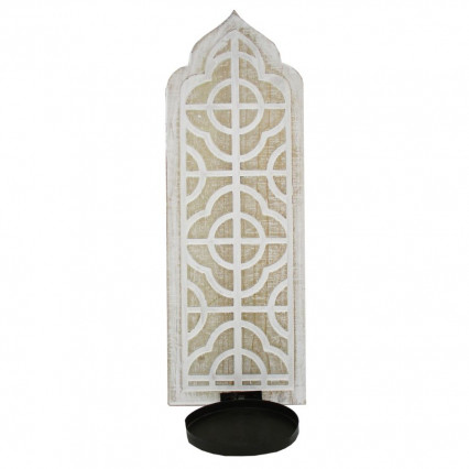 Sconce Wooden Distressed White